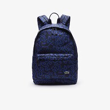 Image of Lacoste KH PEACOAT SODALITE MEN'S KEIGH HARING  PRINTED CANVAS BACKPACK