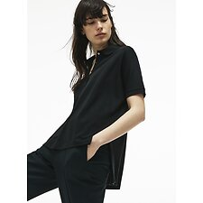 Image of Lacoste BLACK WOMEN'S RELAXED FIT POLO