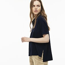 Image of Lacoste NAVY BLUE WOMEN'S RELAXED FIT POLO