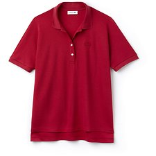 Image of Lacoste PERSIAN RED WOMEN'S RELAXED FIT POLO
