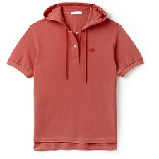 Picture of WOMENS FASHION SHOW PLEATED HOODED POLO