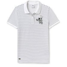 Image of Lacoste WHITE/GREEN WOMEN'S MINNIE MOUSE POLO