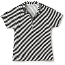 Picture of DIAGONAL STRIPE POLO WITH ZIP