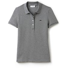 Image of Lacoste NAVY BLUE/VANILLA PLANT WOMEN'S RETRO FIT POLO WITH TONAL CROC