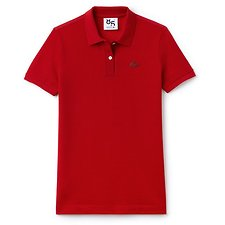 Image of Lacoste RED WOMEN'S 85TH ANNIVERSARY LIMITED EDITION WOOL POLO