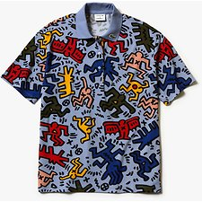 Image of Lacoste APHYLLA/MULTICO WOMEN'S KEITH HARING PRINT POLO
