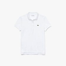 Image of Lacoste WHITE WOMEN'S 2 BUTTON RELAXED FIT POLO