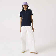 Image of Lacoste NAVY BLUE WOMEN'S 2 BUTTON RELAXED FIT POLO