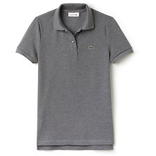 Image of Lacoste SILVER CHINE WOMEN'S 2 BUTTON RELAXED FIT POLO