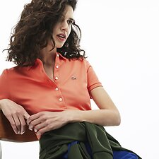 Image of Lacoste DIANTHUS WOMEN'S 5 BUTTON SLIM STRETCH CORE POLO