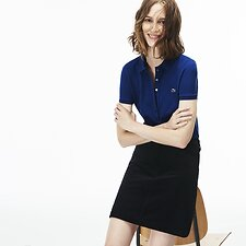 Image of Lacoste INKWELL WOMEN'S 5 BUTTON SLIM STRETCH CORE POLO