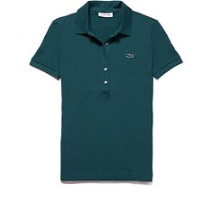Image of Lacoste ACONIT WOMEN'S 5 BUTTON SLIM STRETCH CORE POLO