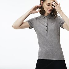 Image of Lacoste STONE WOMEN'S 5 BUTTON SLIM STRETCH CORE POLO