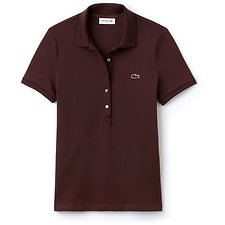 Image of Lacoste VERTIGO WOMEN'S 5 BUTTON SLIM STRETCH CORE POLO