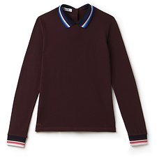 Picture of WOMEN'S LONG SLEEVE SLUB PIQUE WITH COLLAR DETAIL