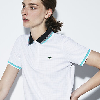 1d2268b63f0cd9 Image of Lacoste WOMEN S ULTRA DRY POLO WITH CONTRAST COLLAR