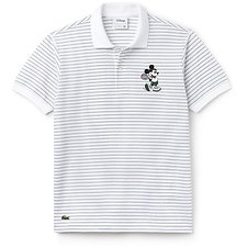 Image of Lacoste WHITE/GREEN MEN'S MICKEY MOUSE POLO