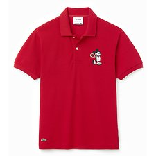 Image of Lacoste LIGHTHOUSE RED/LIGHTHOUSE MEN'S MICKEY MOUSE POLO