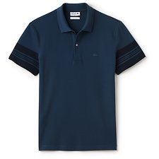 Picture of SLIM FIT POLO WITH SLEEVE DETAIL