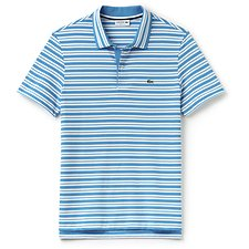 Image of Lacoste LOIRE BLUE/WHITE REGULAR FIT STRIPE POLO