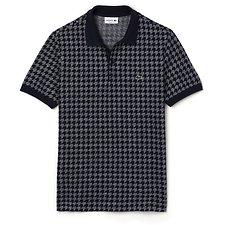 Picture of REGULAR FIT HOUNDSTOOTH POLO
