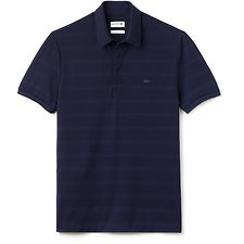 Image of Lacoste NAVY BLUE MEN'S SLIM FIT STRIPE POLO