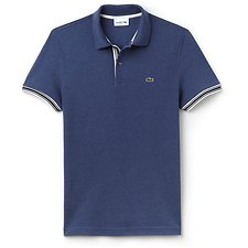 Image of Lacoste CRUISE CHINE MEN'S SLIM FIT OUTLINE POLO