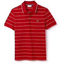 Image of Lacoste TOREADOR/FLOUR MEN'S SLIM FITSTRIPE POLO