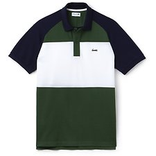 Image of Lacoste CHILLI PEPPER ESTATE BLUE MEN'S COLOUR BLOCK POLO