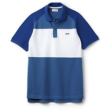 Image of Lacoste MEDWAY/WHITE-ELECTRIC MEN'S COLOUR BLOCK POLO