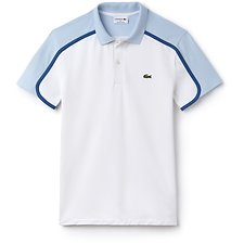 Image of Lacoste WHITE/RILL-MEDWAY MEN'S SLIM CONTRAST DETAIL POLO