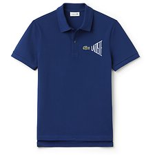 Image of Lacoste MARINO/WHITE MEN'S CHEST LOGO POLO