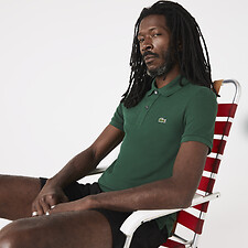 Image of Lacoste GREEN MEN'S SLIM FIT CORE POLO
