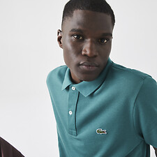 Image of Lacoste BAILLOUX MEN'S SLIM FIT CORE POLO