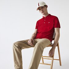 Picture of BASIC SLIM STRETCH POLO WITH SILVER CROC