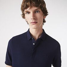 Image of Lacoste NAVY BLUE MEN'S PARIS REGULAR FIT STRETCH POLO