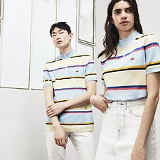 Image of Lacoste MASCARPONE/MULTICO UNISEX LACOSTE LIVE X OPENING CEREMONY REGULAR FIT COLOURBLOCK POLO
