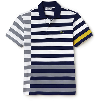 Image of Lacoste  REG FIT DISCONNECTED STRIPE POLO