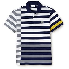 Picture of REG FIT DISCONNECTED STRIPE POLO
