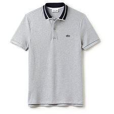 Picture of MEN'S SLIM FIT HEAVY PIQUE POLO WITH TIPPING