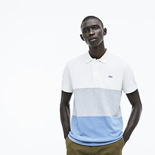 Image of Lacoste FLOUR/MULTICO MEN'S COLOUR BLOCK PIQUE POLO