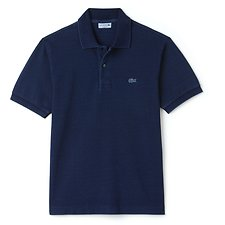 Image of Lacoste INDIGOTIER MEN'S CLASSIC FIT COTTON INDIGO POLO
