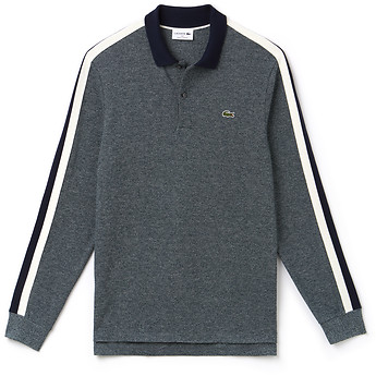 cda9574dbf27 Image of Lacoste MEN S MADE IN FRANCE LONG SLEEVE CRUSHED PIQUE POLO