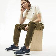 Image of Lacoste GEODE/NAVY BLUE MEN'S SLIM FIT STRIPE COLLAR POLO