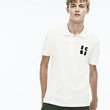 Image of Lacoste FLOUR MEN'S ALPHABET LETTERED POLO