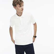 Image of Lacoste FLOUR MEN'S FELT CROCODILE COTTON POLO