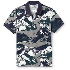 Image of Lacoste STONE CHINE/MULTICO MEN'S ALPINE PRINTED POLO