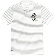 Image of Lacoste WHITE/GREEN KIDS' MICKEY MOUSE KIDS POLO
