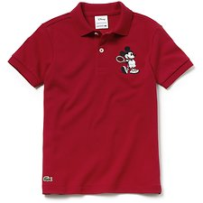 Image of Lacoste LIGHTHOUSE RED/LIGHTHOUSE KIDS' MICKEY MOUSE KIDS POLO