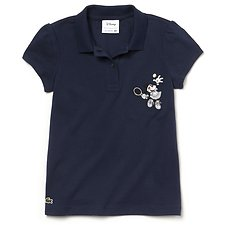 Image of Lacoste NAVY BLUE KIDS' GIRLS MINNIE MOUSE POLO